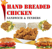 Hand Breaded Chicken Sandwich and Tenders